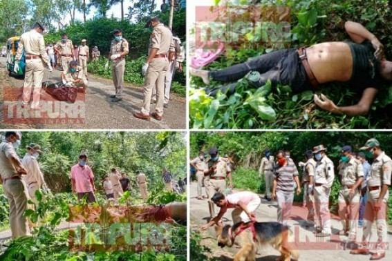 Unknown Dead Body of young man Recovered at Jirania's Jampui Jala Road with severe Cut spots around Neck : Police sent body for Post Mortem, investigation underway
