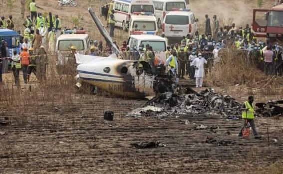 7 killed in military plane crash in Nigeria