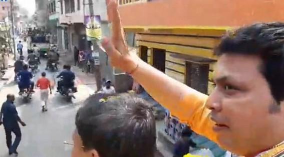 West Bengal BJP sidelines Biplab Deb, Crowdless roads in Biplab's rally