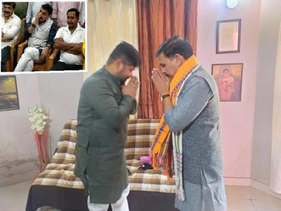 Tripura BJP Crisis : After holding meeting at MLA hostel with sacked BJP Health Minister Sudip Barman, Vinod Sonkar met MLA Sushanta Chowdhury : Majority of BJP MLAs demand Replacement of Biplab Deb as CM