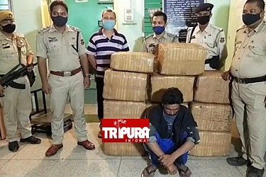 210 kg of cannabis recovered from 12-wheeler lorry at Mungiakami checkpoint. TIWN Pic May 16