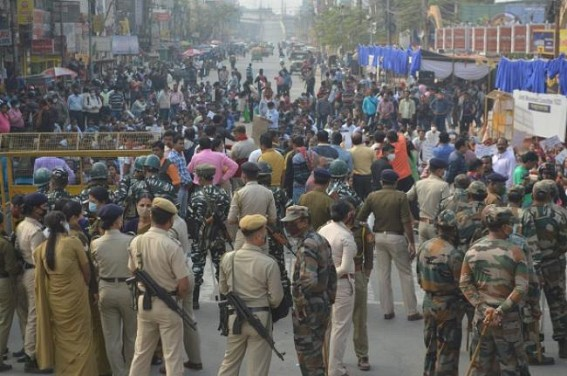 Massive protests rocked Agartala led by 10323 teachers