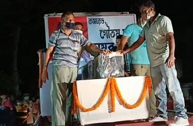 CPI-M leader Gautam Das was paid last tribute. TIWN Pic Sep 16