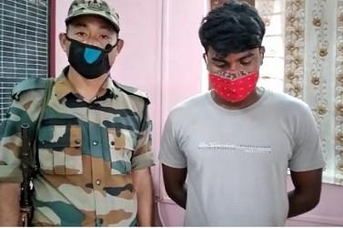 Drug smuggler arrested by Police in Agartala. TIWN Pic June 13