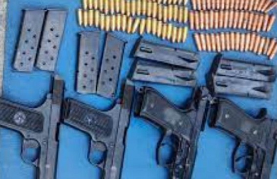 4 pistols, ammunition recovered in J&K's Pulwama