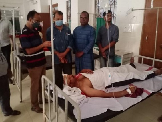CPI-M North Tripura district secretary met Injured Journalist