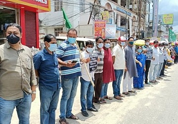 SFI, DYFI held protest over deteriorating Law & Order in Tripura. TIWN Pic June 15