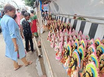 Laxmi idols decked up in Agartala markets. TIWN Pic Oct 19