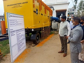 AMC launched diesel pumps to control water logging. TIWN Pic Jan 15