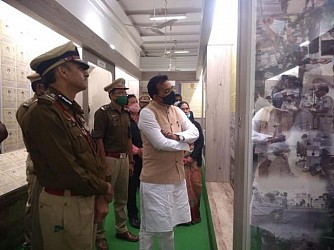 Ujjayanta Palace gallery visited by Tourism Minister. TIWN Pic Jan 15