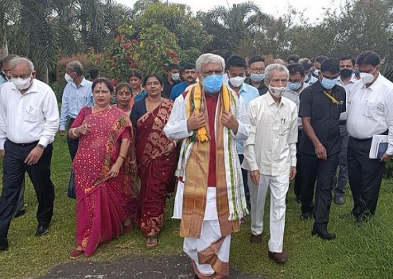 Central Minister in Tripura to Celebrate PM Modi's Birthday : Planted Trees with Governor and Forest Minister