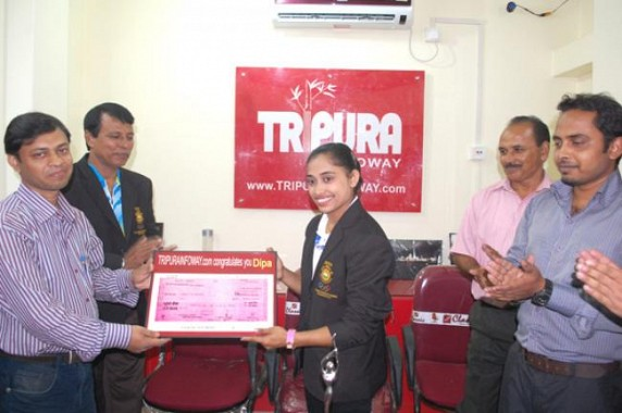 TIWN felicitates Dipa Karmakar on August 6, 2014