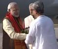 PM Modi's arrival at Agartala, Tripura